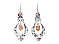 Mandf Western Scroll Chandelier Earrings Red Earring