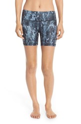 Alo Yoga Women's Alo 'Burn' Graphic Shorts Black Python