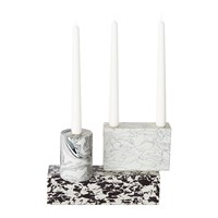 Tom Dixon Swirl Candelabra Black White