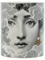 Fornasetti Face Print Candle Wax Ceramic Grey