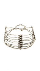 Dannijo Tempest Choker Necklace Ox Silver Crystal