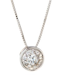 Memoire 18K Diamond Bouquets Bezel Pendant Necklace