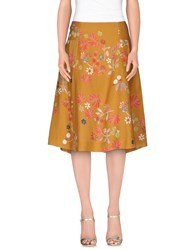 Siyu Skirts 3 4 Length Skirts Women Ocher