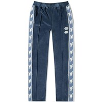 Off White Velour Taped Track Pant Blue
