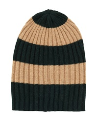 Portolano Rugby Stripe Ribbed Hat Forest Asi