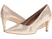 Walking Cradles Sophia Gold Sparkle Fabric High Heels