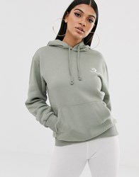 Converse Sage Green Oversized Star Chevron Embroidered Pull Over Hoodie