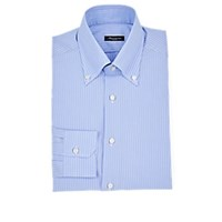 Sartorio Pinstriped Cotton Button Down Dress Shirt Lt. Blue