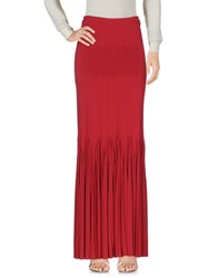 Alaia Long Skirts Red
