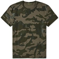 Valentino Over Printed Camo Tee Green