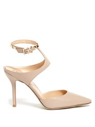 Valentino Rockstud Point Toe Leather Pumps Nude