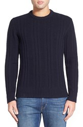 Men's Jack Spade 'Pollock' Ribbed Wool Blend Crewneck Sweater Navy