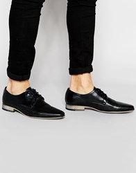 River Island Leather Formal Derby Shoes In Black