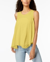 Styleandco. Style Co Handkerchief Hem Top Created For Macy's Yellow Breeze