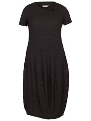 Chesca Asymmetric Neck Bubble Dress Black