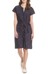 Barbour Glenrothes Windowpane Plaid Dress Navy Check