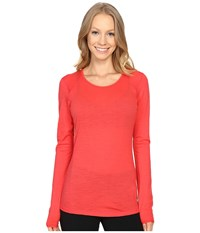 Smartwool Nts Micro 150 Crew Hibiscus Women's Long Sleeve Pullover Pink