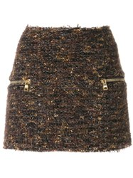 Balmain Tweed Mini Skirt 60