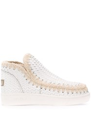 Mou Cut Out Detail Eskimo Sneakers White
