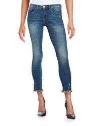 Blank Nyc Faded Cropped Skinny Jeans Factory Blue