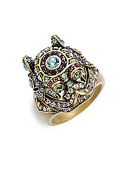Heidi Daus Black Diamond Tanzanite Aquamarine Eremite Ring Gold Multi