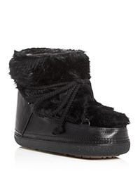 Inuikkii Classic Low Rabbit Fur Cold Weather Booties Black
