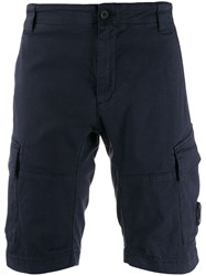 C.P. Company Cp Knee Length Fitted Shorts Blue