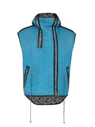 Calvin Klein 205W39nyc Hooded Quilted Gilet Blue