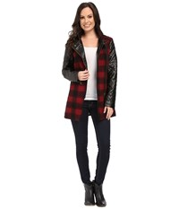 Tasha Polizzi Field Jacket Red Black Women's Coat