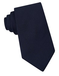 Michael Kors Micro Dotted Silk Tie Navy