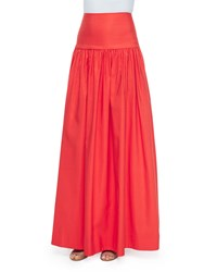Alexis Musan High Waist Maxi Skirt Tangerine Size L Orange