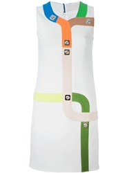 Peter Pilotto Geometric Pattern Shift Dress White