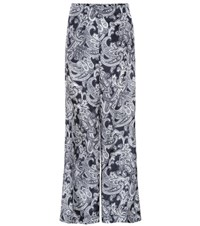 Acne Studios Tennessee Printed Trousers Blue