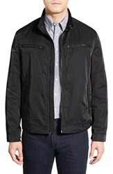 Men's Cole Haan Full Zip Moto Jacket Black