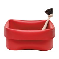 Normann Copenhagen Washing Up Bowl And Brush Red