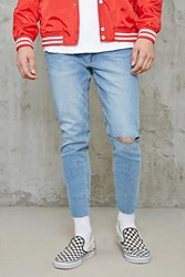 Forever 21 Raw Cut Skinny Jeans