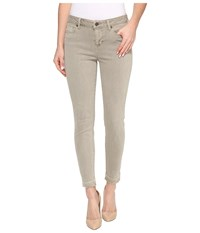 Liverpool Avery Crop Released Hem In Pigment Dyed Slub Stretch Twill In Pure Cashmere Pure Cashmere Women's Jeans Gray