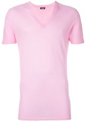 Dsquared2 Underwear V Neck T Shirt Pink And Purple