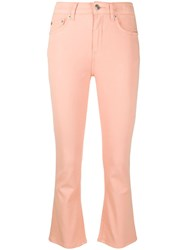 Department 5 Cropped Flared Jeans Pink