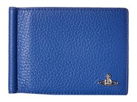 Vivienne Westwood Leather Money Clip Wallet Blue Wallet Handbags