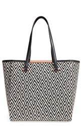 Ted Baker London Large Woven Faux Leather Shopper Black