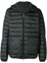 Pyrenex Quilted Hooded Coat Black