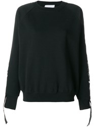 Forte Couture Logo Banded Sweatshirt Cotton Polyester S Black