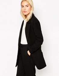See U Soon Oversized Car Coat With Double Buttons Black