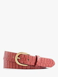 J.Crew J. Crew Leather Croc Belt Jasmine Frost