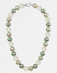 Majorica 12Mm Multicolor Round Pearl And Sterling Silver Strand Necklace 17