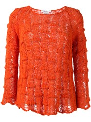 Lamberto Losani Chunky Knit Jumper Yellow Orange