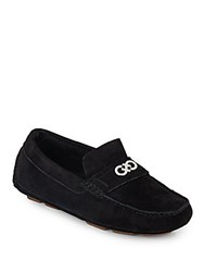 Cole Haan Shelby Suede Moccasins Black