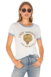 Obey Tiger Savages Tee Baby Blue