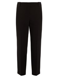 The Row Blake Wool Blend Cropped Trousers Navy